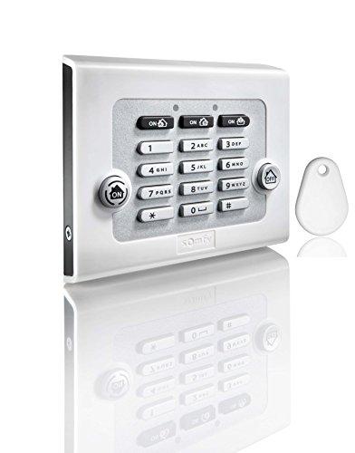 Somfy 2401241 -Funk-Codetastatur zur Bedienung der Protexiom Alarmanlage, weiß
