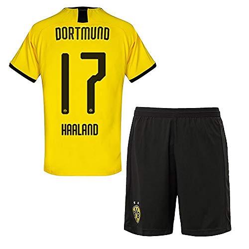 VV-RT STAR 19/20 Saison (Heim - Auswärts) Borussia Dortmund Fussball Trikot & Shorts & Socken #17 Erling Haaland Fußball Trikot für Kinder Herren Erwachsen