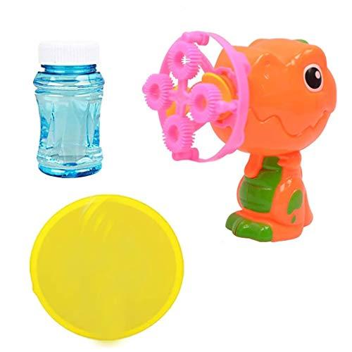 Webla Baby Dinosaur Baby Soap Bubble Machine 100ml Bubble Solution Juego de juguetes para máquina de burbujas(naranja)