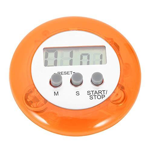 FOY Mignon Mini Compteur Numérique Maison Cuisine Ronde LCD Affichage Numérique Cuisson Compte à Rebours Compte À Rebours Alarme, Orange