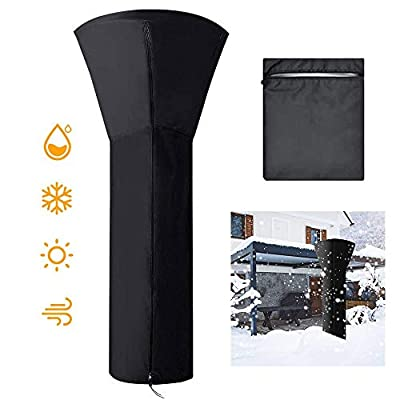 Full House Patio Heater Cover Waterproof, Standup Outdoor Round Oxford Propane Heater Covers with Zipper H89 x D33 x 19 in