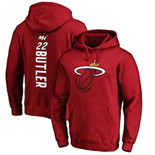 DFGTR Rojo - Baloncesto Jimmy Hoodies Butler Pullover Fleece Miami Sudadera de Calor #22 Transpirable Sudaderas Hombre