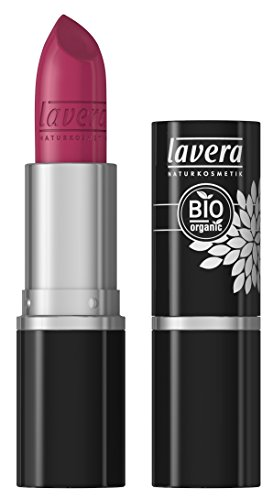 lavera Lippenstift Beautiful Lips Colour Intense ∙ Farbe Pink Fuchsia ∙ zart & cremig  ∙ Natural & innovative Make up ✔ Bio Pflanzenwirkstoffe ∙ Lipstick ∙ Naturkosmetik 1er Pack (1 x 5 g)