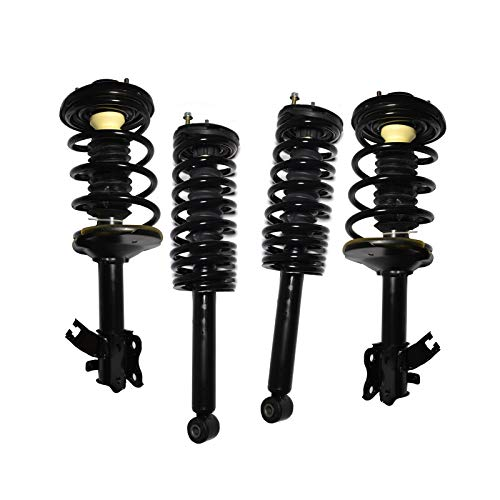 WIN-2X New 4pcs Front+Rear Right+Left Quick Complete Suspension Shock Struts & Coil Springs Assembly Kit Compatible with 95-99 Maxima 96-99 Infiniti I30