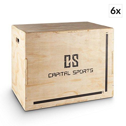 Capital Sports Shineater Set 6X Caja de Salto Pliométrica de 3 Alturas 20'...