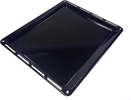 ICQN 445 x 375 x 25 mm Backblech | Passend für Whirlpool Ignis Bauknecht | Emailliert | Fettpfanne für Backofen | Kratzfest | 44,5 x 37,5 cm