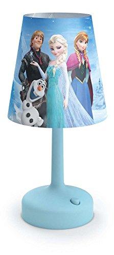 Philips Disney Frozen (Die Eiskönigin) LED Tischeleuchte/Nachttischleuchte Plastik 0.6 W Blau, 717960816