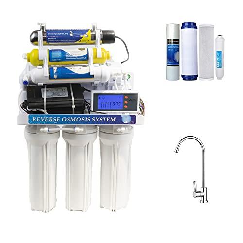 DC Solution | Depuratore Acqua Osmosi Invera 8 Stadi con lampada UV Philips | Purificatore domestico acqua potabile dal rubinetto di casa