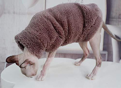 HCYD Verdicken Sie Katze Kleidung Sphinx Katze Kleidung Winter warm halten Heimtierbedarf, L
