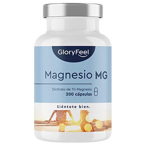 Citrato de Magnesio - 200 Cápsulas Veganas - 2400mg que Proporciona 380mg Alta Dosis de Magnesio Elemental - Alta Dosificación y Alta Bioactivdad - Fabricado en Alemania