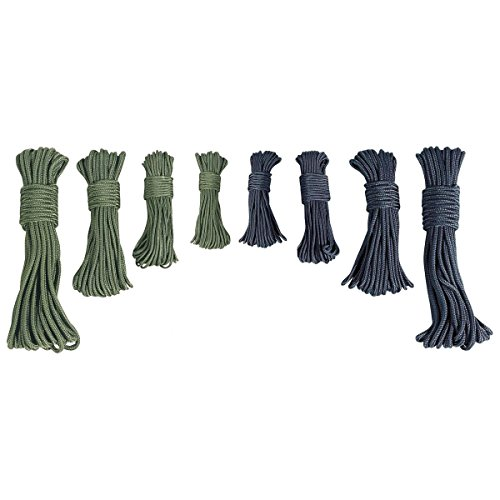 7mm x 50ft 15m Olive Green Utility Purlon Rope Nylon Cord Outdoors Camping Cadet