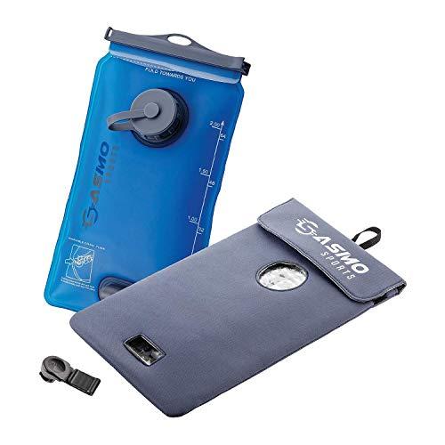 SASMO Sports® Trinkblase 2l [inkl. Thermotasche] | Trinkbeutel 2l BPA frei | Trinksystem für Rucksack | Outdoor, Laufen, MTB, Wandern, Fahrradfahren, Camping