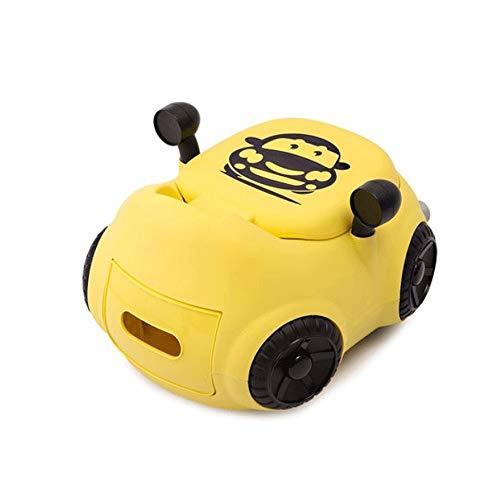Kensd Comfy High Back Rest auto for enfants Toilette Ultra Stable Chaise design for votre petit pot Garçon ou fille (Couleur: Vert, Rose, Jaune) (Color : Yellow)