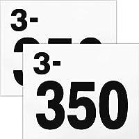 ゼッケン 陸上競技用プリント入り2枚セット サイズ24cm×20cm 2段組レーンナンバー 黒
