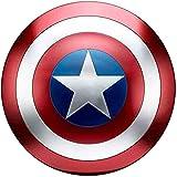 Captain America Shield Full Metal, Adult Legends Series Replica Props, Accesorios para Disfraces De Halloween Cosplay Props Bar Shield Decoraciones para Colgar En La Pared 47CM