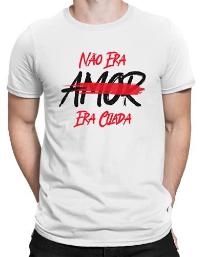 Camiseta Frase Não Era Amor Era Cilada - Camisa Divertida e Engraçada - Personalizada (Branco, GG)