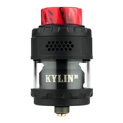 VandyVape Kylin M RTA Tank Clearomizer 3,0 ml / 4,5 ml, Durchmesser 24 mm, Riccardo Verdampfer für e-Zigarette, matt-schwarz