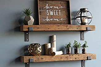 Urban Legacy Reclaimed Wood Shelves   Floating Or with Brackets   Amish Handcrafted in..