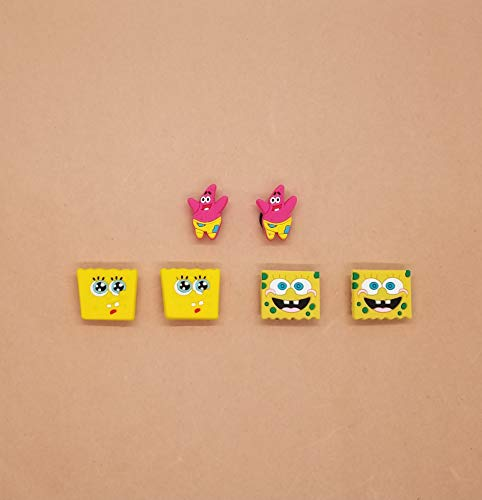 Spongebob Croc Shoe Charms Wristband Charms Shoe Lace Adapter Charms Generic Handmade Set of 6