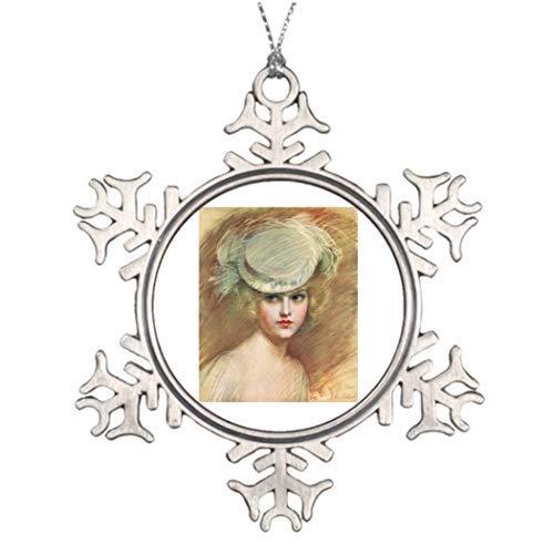Leoner22art Weihnachtsbaum, dekoriert, schwimmend, Zinn, Schneeflocke, Ornamente