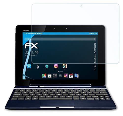 atFolix Schutzfolie kompatibel mit Asus Transformer Pad TF300TG Folie, ultraklare FX Bildschirmschutzfolie (2X)