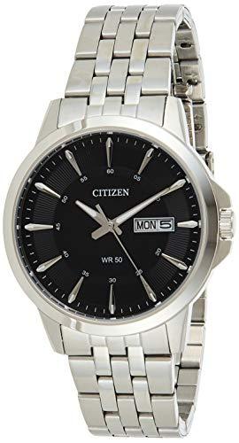 Citizen Hombre Reloj de Pulsera analógico Cuarzo Acero Inoxidable bf2011–51EE