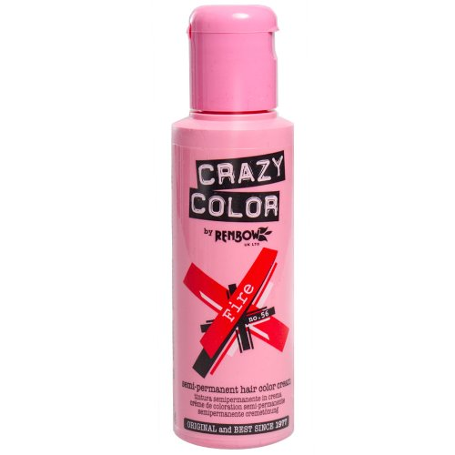 Renbow Crazy Color Semi-Permanent Hair Color Dye fire 56 - 100 ml, 1er pack (1 x 115 g)
