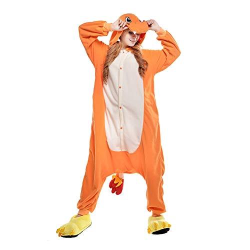 Unisex-Einteiler, Kostüm, Pyjama, für Erwachsene, Frauen, Männer, Tier-Cosplay, Halloween, Hausbekleidung Gr. S( Fit Height 57.9