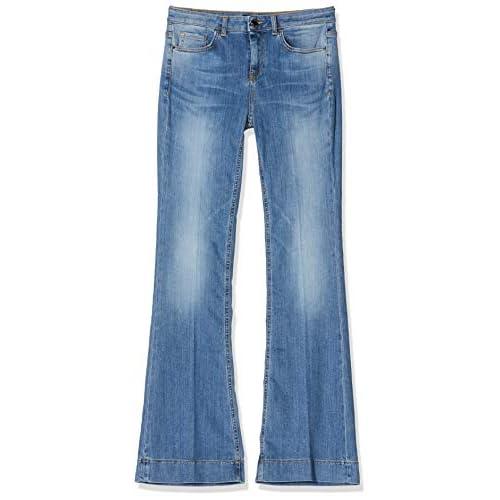 Pinko Flora 9 Jeans Straight, Blu (Blu/Porcellana DELF G14), 46 (Taglia Produttore:30) Donna