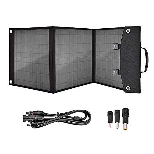 LIAOYUN Cargador de Coche de celda Solar Plegable de Panel Solar portátil de 50W para estación de energía de generador portátil con Puertos USB duales y Salida de CC de 18V LIAOYUN