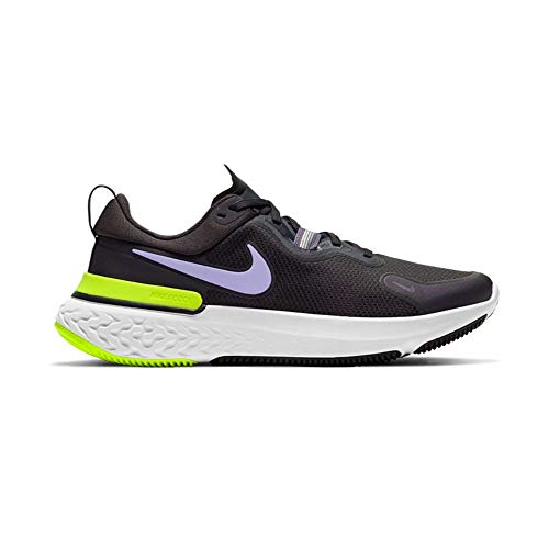 Nike Wmns React Miler, Scarpe da Corsa Donna, off Noir/Purple Pulse-Dk Raisin-Cyber-Black-White, 39 EU