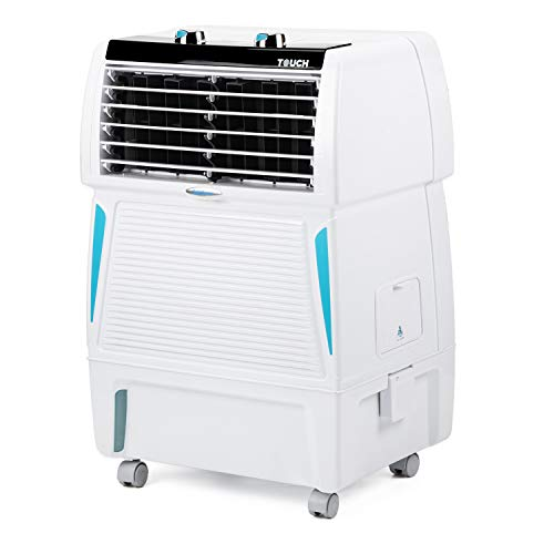 Symphony Touch 20 Personal Room Air Cooler 20-litres, Honeycomb Pad, Fully Closable Louvers, Removable Tank (White)