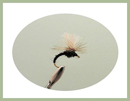 Klinkhammer Fliegenköder, 6 Stück, schwarz, Auswahl von Größen, zum Fliegenfischen