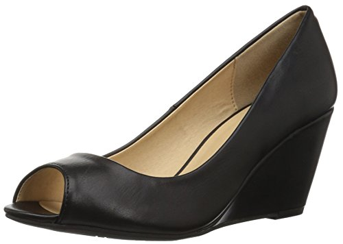 CL by Chinese Laundry Women's Noreen Wedge Pump, Black Smooth, 8.5 M US