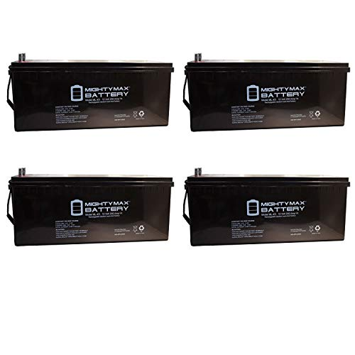 Mighty Max Battery 12v 200ah Battery Replacement for Solar Power - Deep Cycle - 4 Pack Brand Product