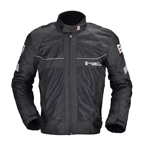 バイク用 メンズ ジャケット オールシーズン通用 プロテクター付き 保護力 防水 防寒 防風 通気性 GR-Y05 (L)