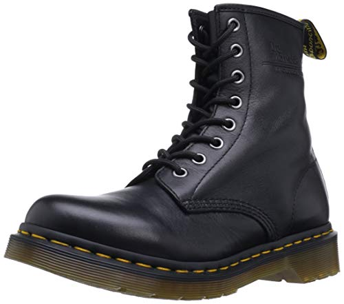 Dr. Martens Women's 1460 W 8-Eye Smooth Leather Lace Up Boot Black-Black-4 Size 4