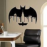HFDHFH Calcomanías de Pared de construcción murciélagos creativos de decoración de la Ciudad Pegatinas Dormitorio de los niños Sala de Juegos Artistas decoración del hogar 110X144CM