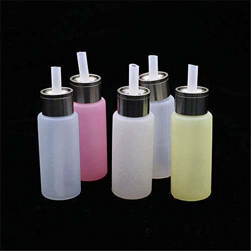 Denghui-ec, Elektronische Zigarette E-Liquid Flasche Lebensmittelqualität 8 ml Silikon Tropfflaschen for BF Squonk Box Mod Tropf Nachfüllflaschen, Frei von Tabak und Nikotin (Color : Weiß)