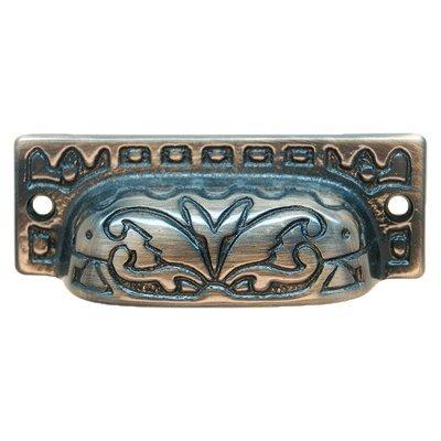 Antique Cast Brass Drawer Bin Pull Handle for Dresser Drawer, Desk, Cabinet | B-27AB (1)
