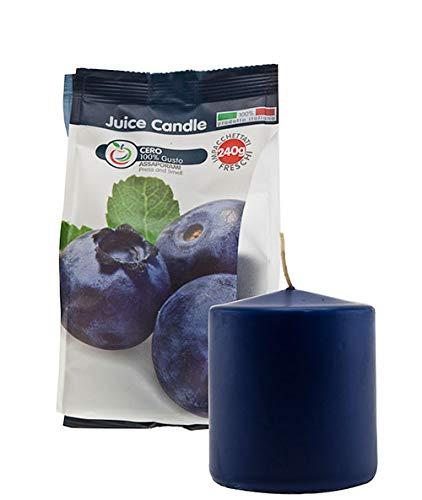Cereria di Giorgio Succo di Candela Cero Profumato alla Frutta, Cera, Blu Scuro, 7x7x8 cm