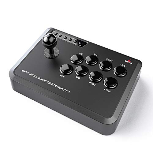 MAYFLASH Arcade Stick F101 for Nintendo Switch/PC/PS3/Android/Neogeo Mini/SEGA MEGA Drive/Genesis