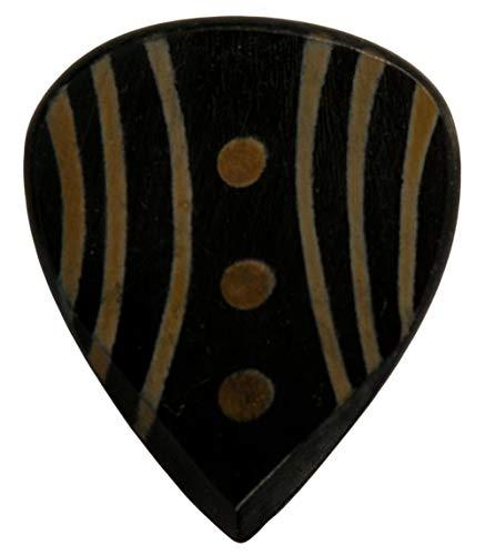 Stanford Guitar Pick Junglemaster Dark Horn : Luxus Gitarren Plektrum aus Horn für Akustikgitarre, E-Gitarre, Ukulele, Bass