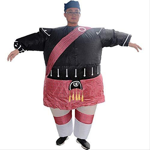 1yess Adulto Grasa Ropa mueca Inflable la Historieta Que recorre Reunin Anual de Vestuario Divertido Samurai Inflable Ropa
