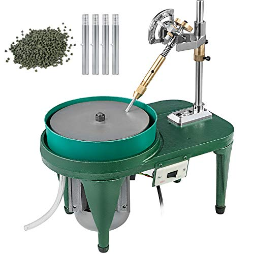VEVOR Gem Faceting Machine 180W Jade Grinding Polishing Machine 2800RPM Rock Polisher Jewel Angle Polisher 110V with Faceted Manipulator and 1 Bag of Triangle Abrasive for Jewelry Polisher