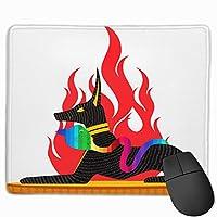 【2021新款】マウスパッドdogs With Cobra Snake Sitting On Fire マウスパッドゲーミングマウスパッド大型ゲーミング滑り止めハイエンド流行のファッション防水耐久性滑り止めラバーボトム 25*30cm