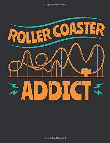 Roller Coaster Addict: Roller Coaster Sketch Pad for Kids, Blank Paperback...