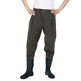 Xinwcang Imperméable Professionnels Waders de Pêche Cuissardes PVC Etanche Pantalons Bottes de Pêche