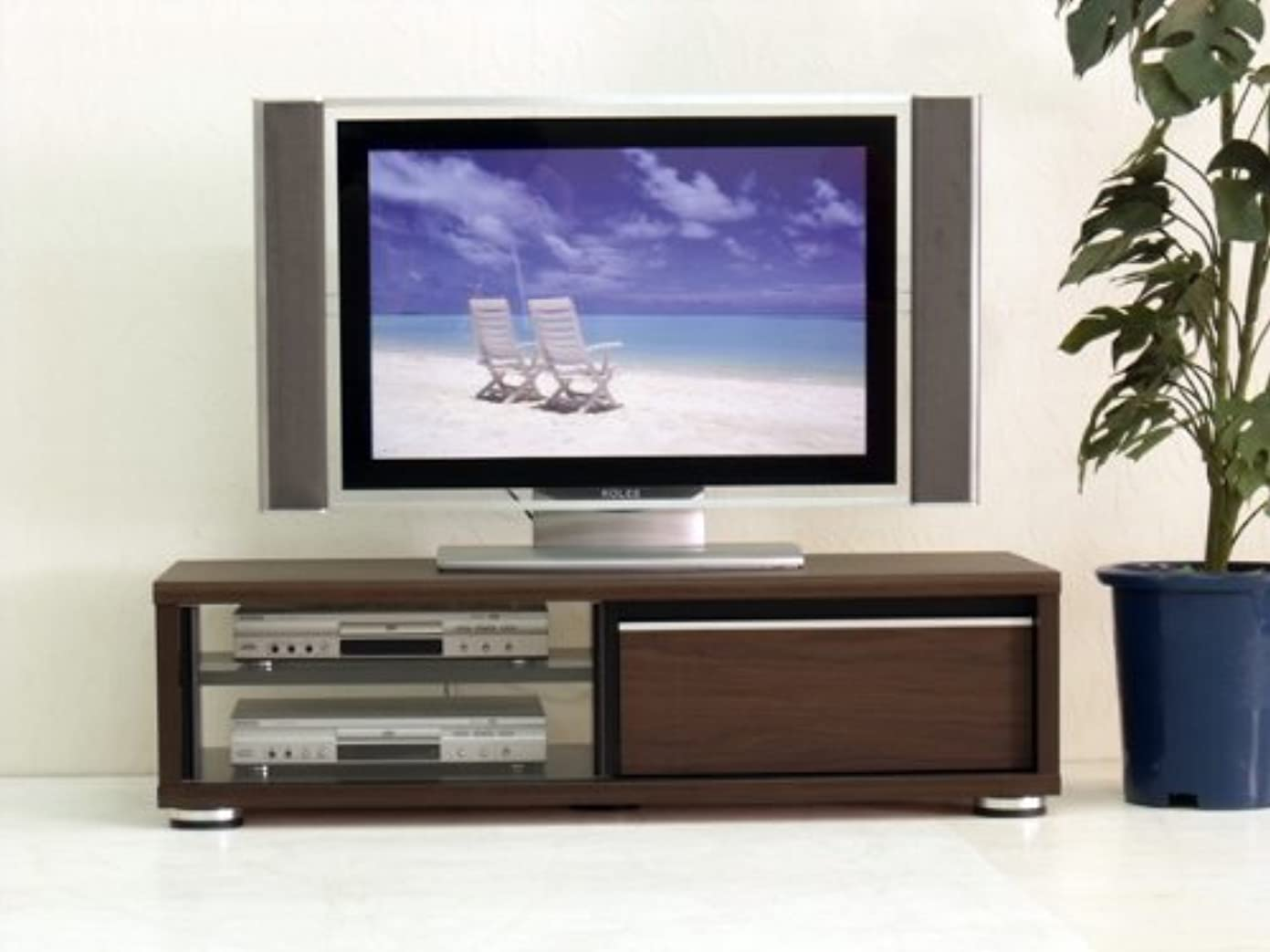 ナサニエル区退化するチャンピオンシップ日本製 北欧風 幅120cm ロータイプテレビボード ブラウン 完成品