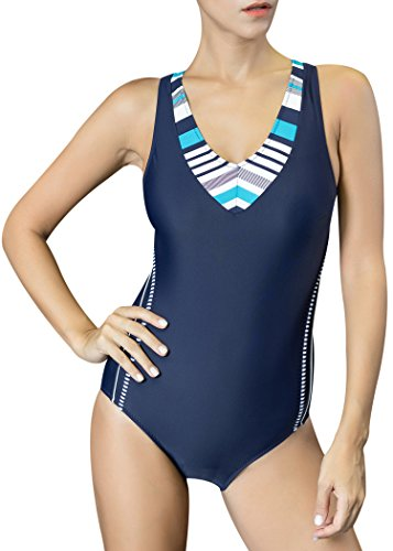 Uhnice Women's One Piece Swimsuits Racing Training Sports Athletic Swimwear (Medium(US6-8),...